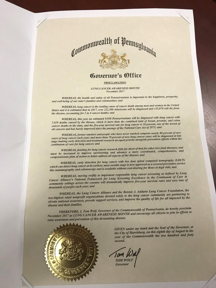 PA LCAM Proclamation