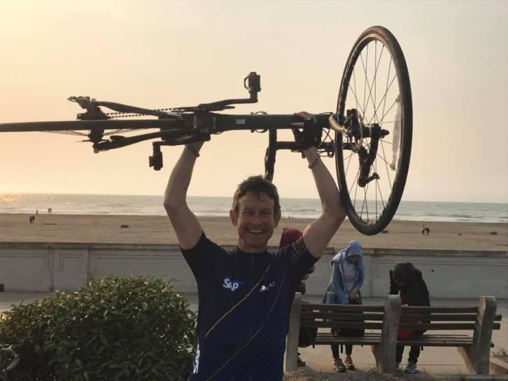 Holding bike